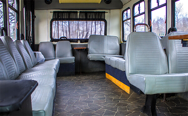 18-passenger and 31-passenger buses available.